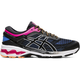 asics Gel-Kayano 26 Sko Damer, black/blue coast
